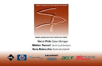 phone company business card design