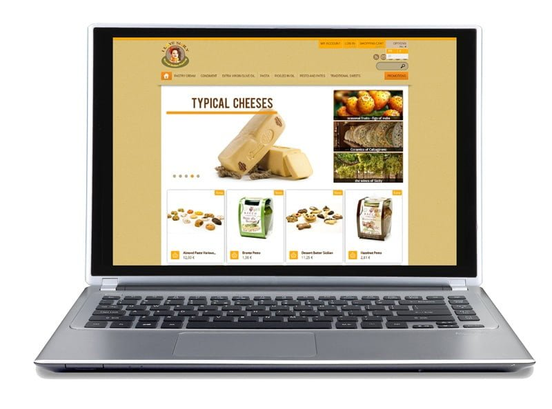e-commerce site typical Italian products