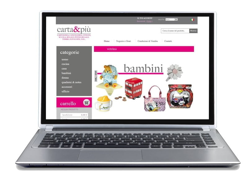 stationery e-commerce site with management integration