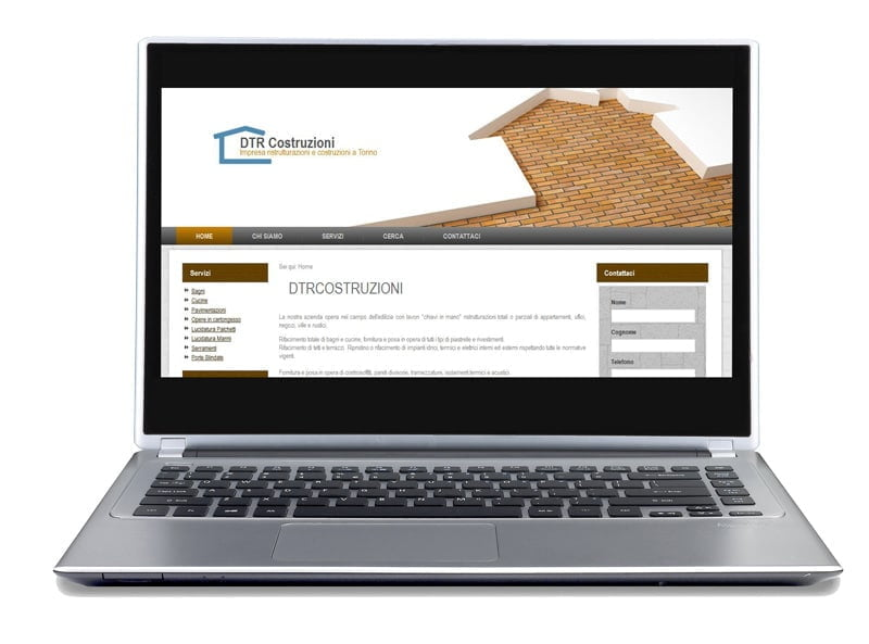 updatable showcase site for construction company