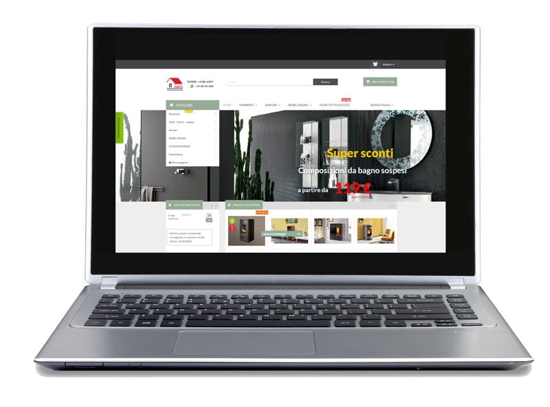 restyling of ecommerce site building home furnishing accessories