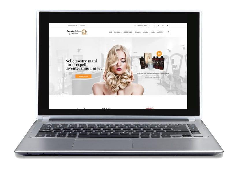 hairstylist salon website portfolio